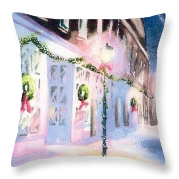 Nantucket Christmas Throw Pillow by Joseph Gallant