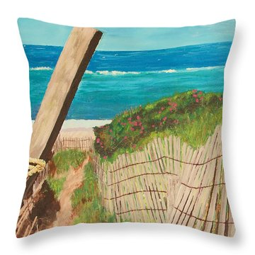 Nantucket Dream Throw Pillow by Cynthia Morgan