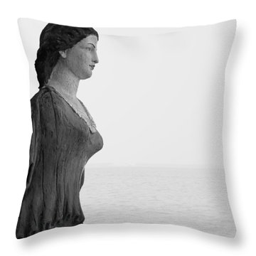 Nantucket Figurehead Throw Pillow