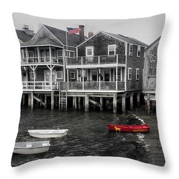 Nantucket In Bw Series 6139 Throw Pillow