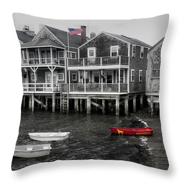Nantucket In Bw Series 6139 Throw Pillow
