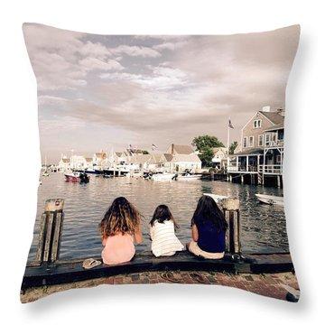 Nantucket Island Throw Pillow