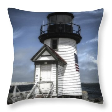 Nantucket Lighthouse Throw Pillow