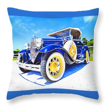 Throw Pillow featuring the painting Nantucket Vintage by Jack Torcello