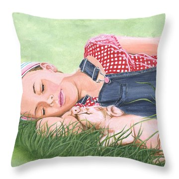 Nap Time Together Throw Pillow
