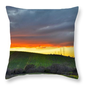 Napa Sunrise Throw Pillow