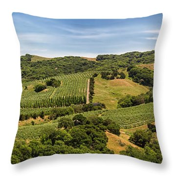 Throw Pillow featuring the photograph Napa Valley California Panoramic by Adam Romanowicz
