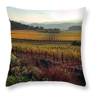 Napa Valley California Throw Pillow