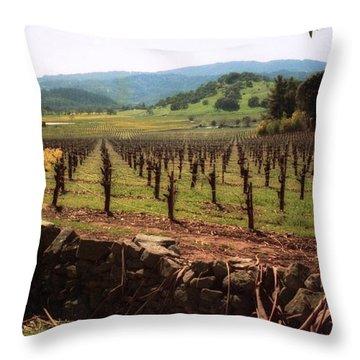 Napa Valley Hills Vineyard Throw Pillow