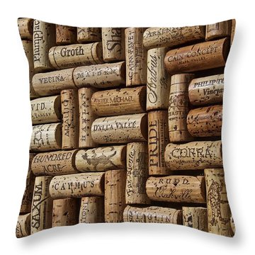 Napa Valley Wine Auction Throw Pillow by Anthony Jones