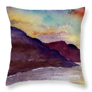 Napali Coast Kauai Hawaii Throw Pillow