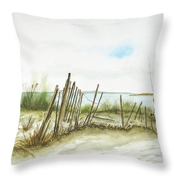 Napatree Point Watch Hill, Ri Throw Pillow