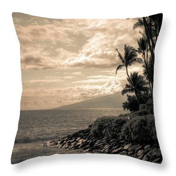 Throw Pillow featuring the photograph Napili Heaven by Kelly Wade