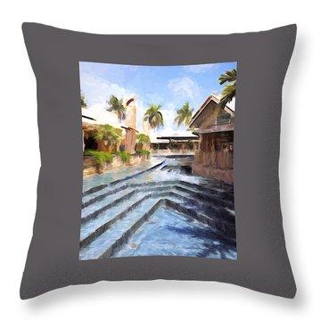 Naples Falls Shopping  Throw Pillow by Rena Trepanier