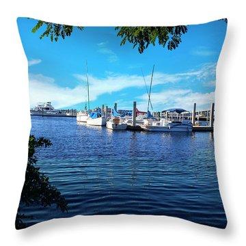 Naples Harbor Series 4054 Throw Pillow