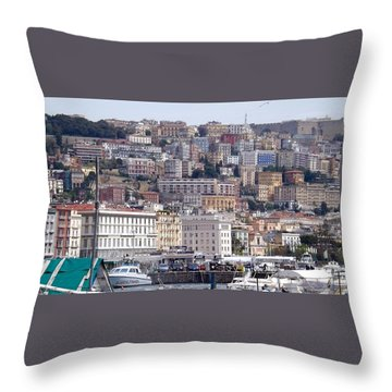 Naples In The Spring Throw Pillow