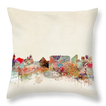 Throw Pillow featuring the painting Naples Italy by Bri B
