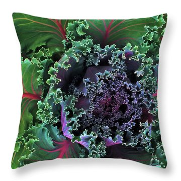Naples Kale Throw Pillow