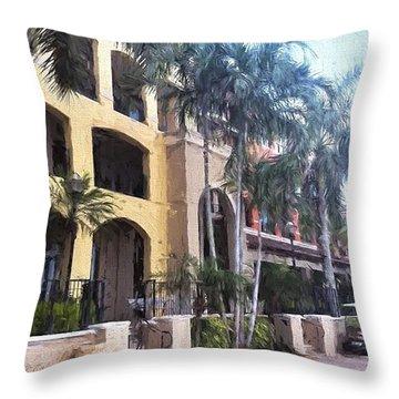 Naples On The Waterfront Throw Pillow