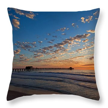 Naples Pier Days End. Throw Pillow
