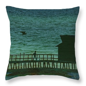 Naples Pier Throw Pillow