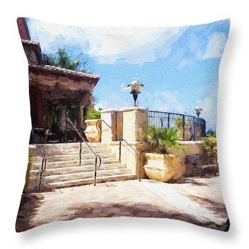 Naples Scenic Places Throw Pillow by Rena Trepanier