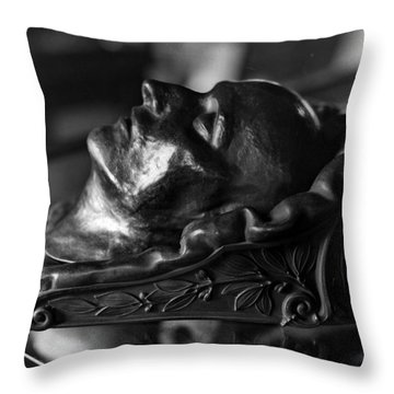 Napoleon Death Mask Throw Pillow
