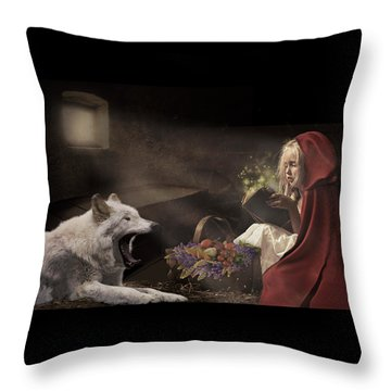 Naptime Story Throw Pillow
