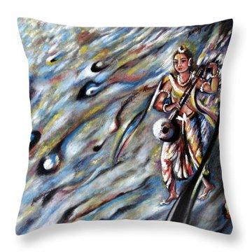 Narada Muni Throw Pillow