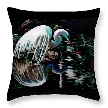 Narcissis Throw Pillow