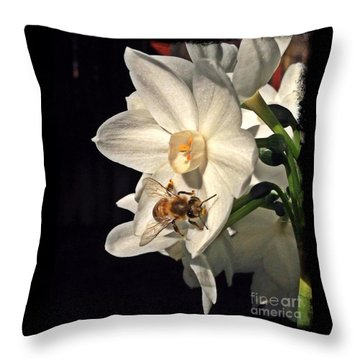 Narcissus And The Bee 2 Throw Pillow