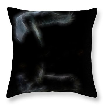 Narcissus Angel Throw Pillow by William Horden