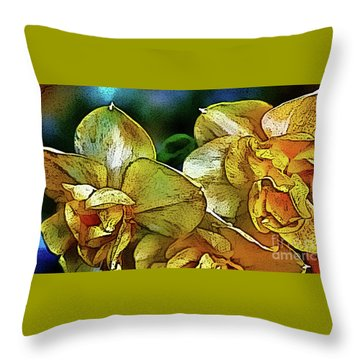 Throw Pillow featuring the photograph Narcissus by Jolanta Anna Karolska