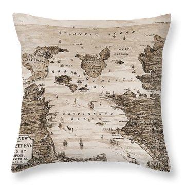 Narragansett Bay, C1880 Throw Pillow by Granger