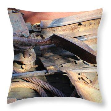 Narrow Gauge Railroad Scrap Throw Pillow