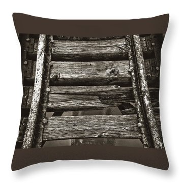 Narrow Gauge Tracks #photography #art #trains Throw Pillow