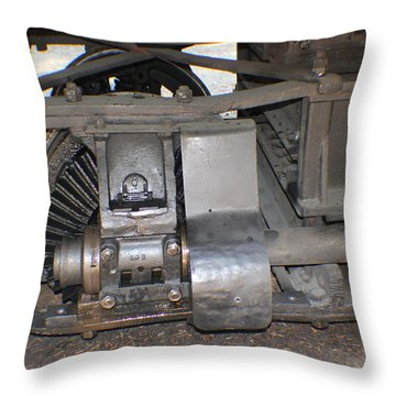 Narrow Gauge Wheels Throw Pillow
