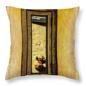 Narrow Reflections Throw Pillow
