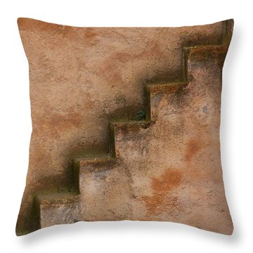 Throw Pillow featuring the photograph Narrow Stairs by Ramona Johnston