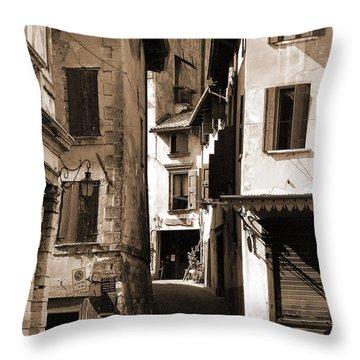 Narrow Streets Of Asolo Throw Pillow