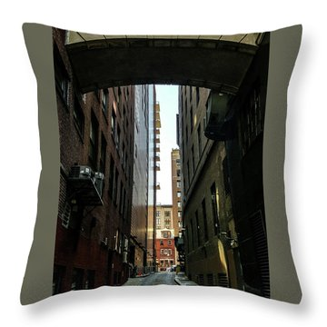 Narrow Streets Of Cobble Stone Throw Pillow by Bruce Carpenter