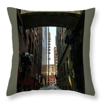 Narrow Streets Of Cobble Stone Throw Pillow