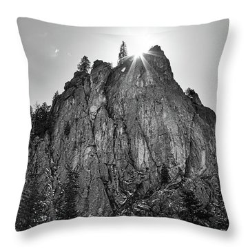 Throw Pillow featuring the photograph Narrows Pinnacle Boulder Canyon by James BO Insogna