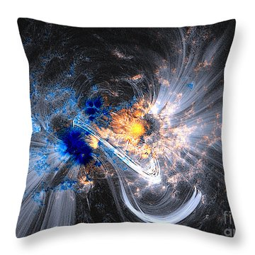 Nasa Coronal Loops Over A Sunspot Group Throw Pillow
