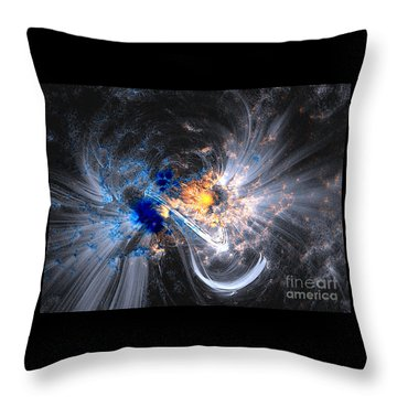 Throw Pillow featuring the photograph Nasa Coronal Loops Over A Sunspot Group by Rose Santuci-Sofranko