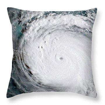 Nasa Hurricane Irma Satellite Image Throw Pillow
