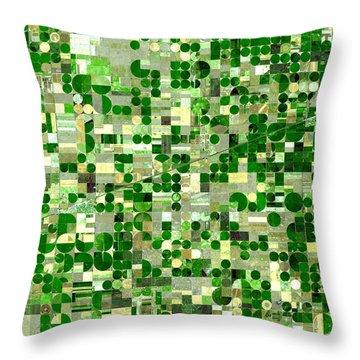 Nasa Image-finney County, Kansas-2 Throw Pillow