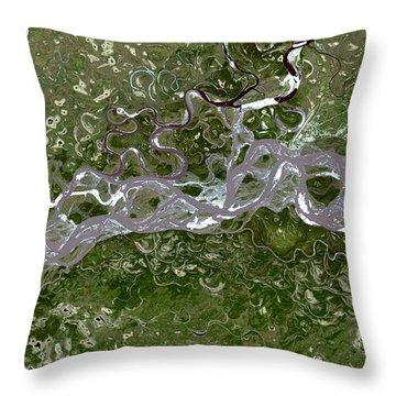 Nasa Image-fort Yukon, Alaska-2 Throw Pillow