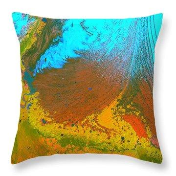 Nasa Image-malaspina Glacier, Alaska-glacier-2 Throw Pillow
