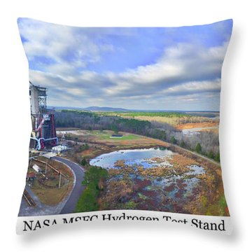 Nasa Msfc Hydrogen Test Stand - Original Throw Pillow
